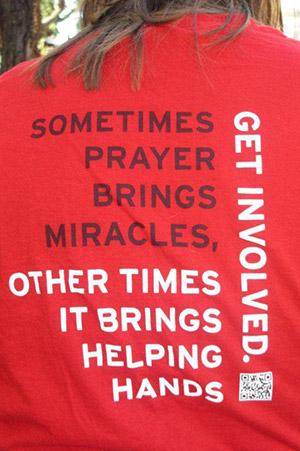 get involved volunteering shirt